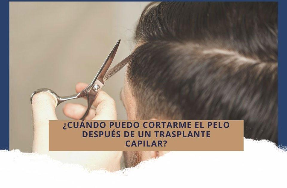 ¿Cuándo puedo cortarme el pelo después de un trasplante capilar?
